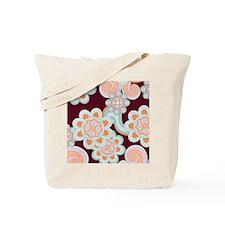 FlowerRetro_Brown_78 Tote Bag