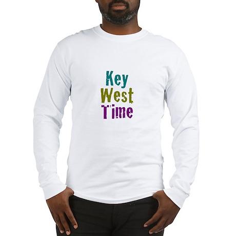 12x12at200KeyWestTimeBlk Long Sleeve T-Shirt