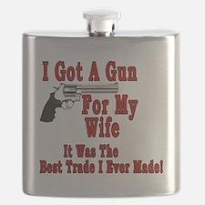 I Got A Gun For My Wife Flask