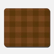 Plaid1_Brown1_1_44 Mousepad