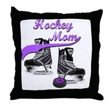 hockey_mom_purple Throw Pillow
