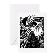 large_framed_print_14x10_winged_girl Greeting Card