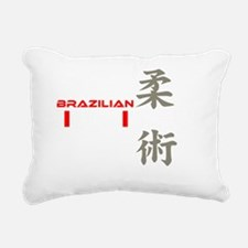bjj white copy Rectangular Canvas Pillow