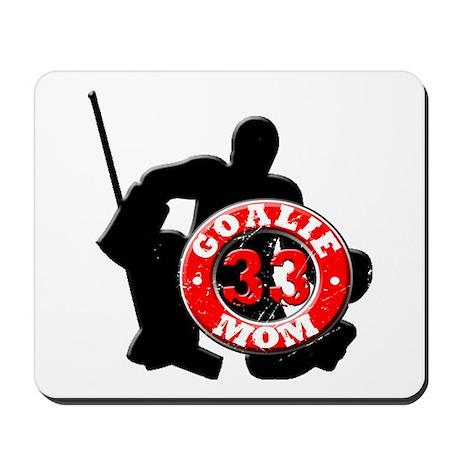 Hockey Goalie Mom #33 Mousepad
