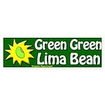 Green Green Lima Bean Bumper Sticker