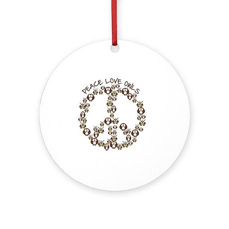 peaceloveowls Round Ornament