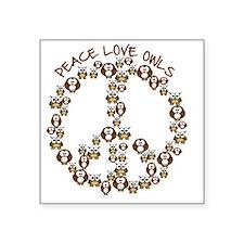 """peaceloveowls Square Sticker 3"""" x 3"""""""