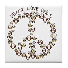 peaceloveowls Tile Coaster