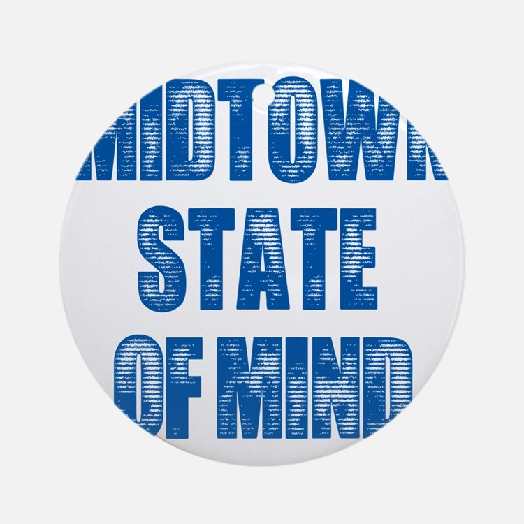 Midtown_StateofMind Round Ornament