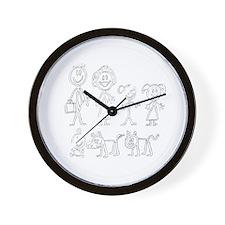 StickerPeople Wall Clock
