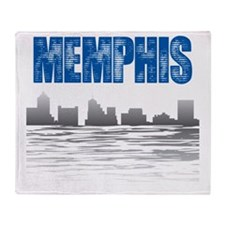 Memphis_T_Shirt_white Throw Blanket