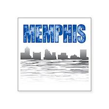 "Memphis_T_Shirt_white Square Sticker 3"" x 3"""