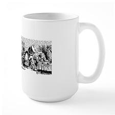 alice-vintage-border_bw_6x18h Mug