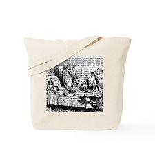 alice-vintage-border_bw_12-5x13-5h Tote Bag