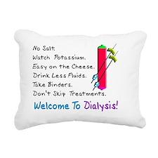 Welcome to dialysis Rectangular Canvas Pillow