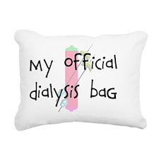 My official dialysis bag Rectangular Canvas Pillow