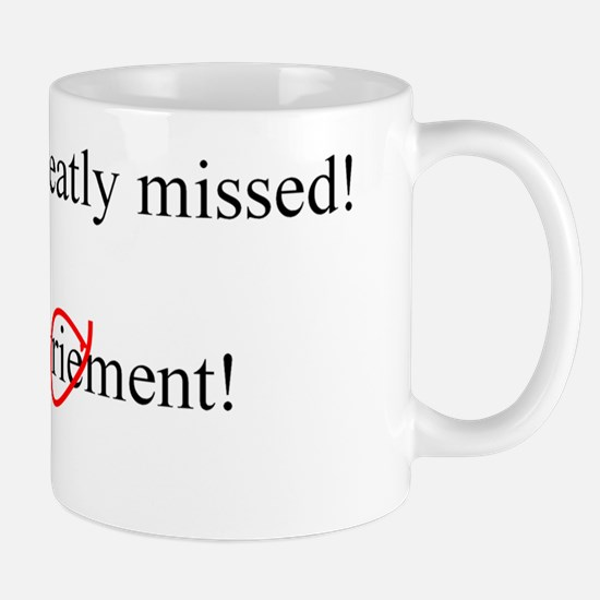 Happy Retirement ENGLISH inside Mug