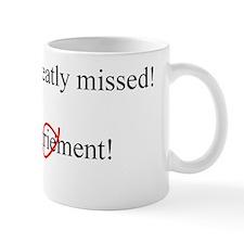 Happy Retirement ENGLISH inside Small Mugs