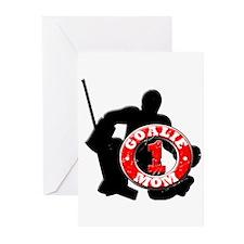 Hockey Goalie Mom #1 Greeting Cards (Pk of 10)