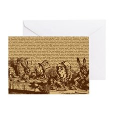 alice-vintage-border_brown_10-833x18 Greeting Card