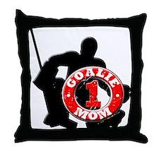 Hockey Goalie Mom #1 Throw Pillow