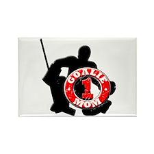 Hockey Goalie Mom #1 Rectangle Magnet