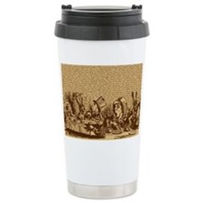 alice-vintage-border_brown_10-8 Travel Mug