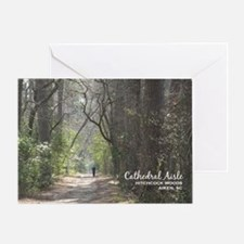 aiken post card cathedral aisle Greeting Card