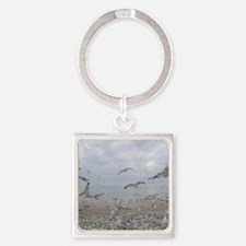 edisto note card gulls Square Keychain