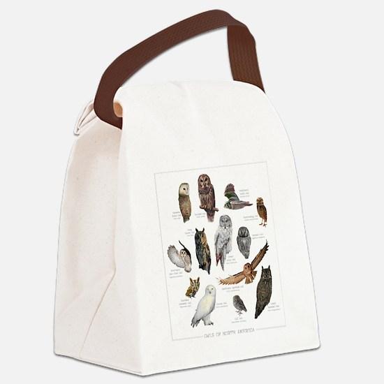 OwlSpecies Canvas Lunch Bag