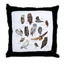 OwlSpecies Throw Pillow
