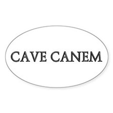 CAVE CANEM Oval Decal