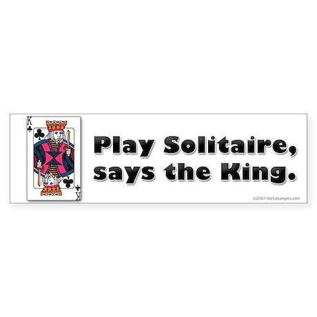 Play Solitaire Bumper Sticker