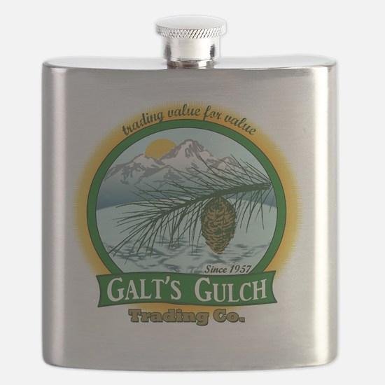 Galts Gulch Tradinc Co - Cirle logo Flask