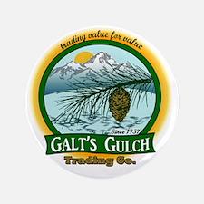 "Galts Gulch Tradinc Co - Cirle logo 3.5"" Button"