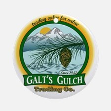 Galts Gulch Tradinc Co - Cirle logo Round Ornament