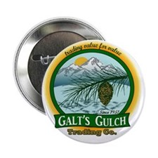 "Galts Gulch Tradinc Co - Cirle logo 2.25"" Button"