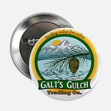 "Galts Gulch Tradinc Co - Cirle logo 2.25"" Button"