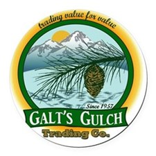 Galts Gulch Tradinc Co - Cirle lo Round Car Magnet