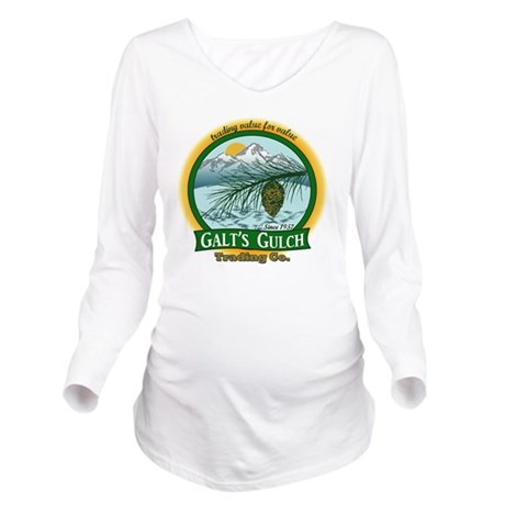 Galts Gulch Tradinc Long Sleeve Maternity T-Shirt