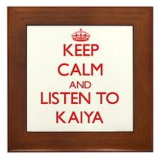 Keep Calm and listen to Kaiya Framed Tile