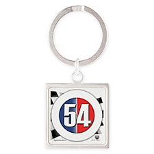 roundlogo54 Square Keychain