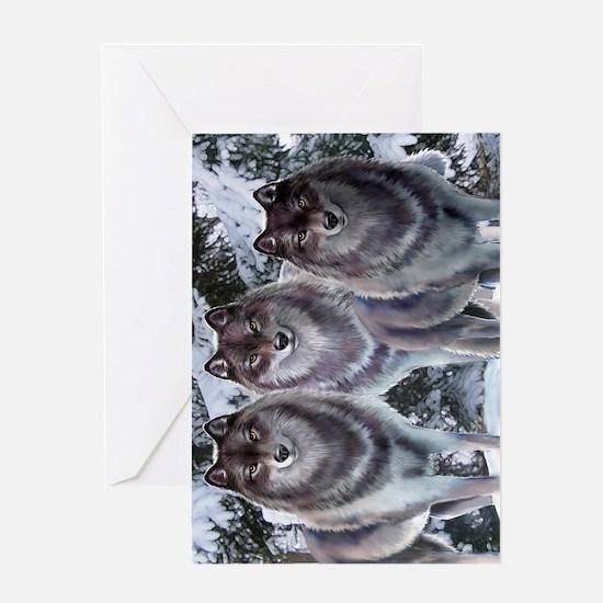 WinterWolvesPhone Greeting Card