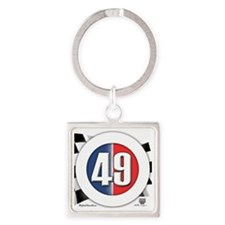 roundlogo49 Square Keychain