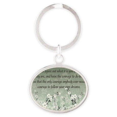 follow_your_passion-1282011 Oval Keychain