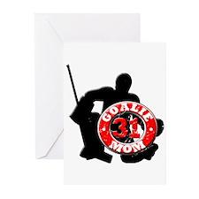 Hockey Goalie Mom #31 Greeting Cards (Pk of 10