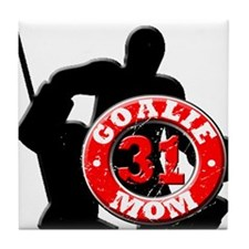 Hockey Goalie Mom #31 Tile Coaster