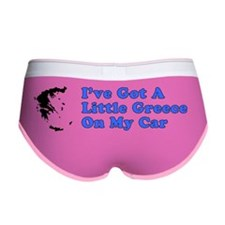 Greece On Car Bumper Sticker Women's Boy Brief