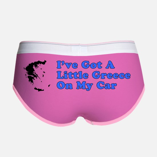 Greece On Car Bumper Sticker Women's Boy Brief