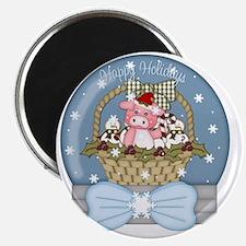 christmas pig glober-001 Magnet